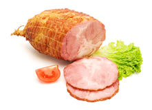 Boneless and tied ham Stock Photography