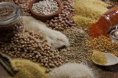 Bonen, kuiken, voedsel Royalty-vrije Stock Afbeeldingen