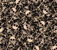 bones черепа Безшовная предпосылка Стоковые Фото
