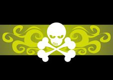 Bones. An illustration of a skull and bones royalty free illustration