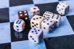 Bones on chess board Stock Photography