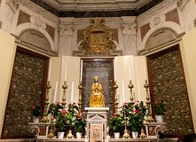 Interior of the cathedral of Otranto stock photos