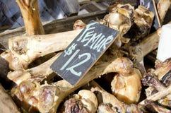 Bones. Fresh bones for sale in the market for pet dog food treats stock photography