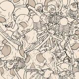 Bones illustration background Stock Photography