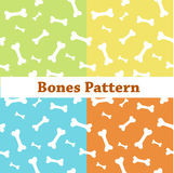 Bones pattern, colorful background with bones Royalty Free Stock Images