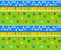 Bones and Paws Pattern. Cute pattern of bones and dog paws. Eps10 Stock Image
