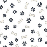 Bones and paws Royalty Free Stock Images