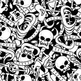 Bones seamless pattern. Skeleton background. Skull ornament. Ana Royalty Free Stock Photography