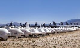 Boneyard авиационной базы ВВС AMARG davis-Monthan в Tucson, Аризоне Стоковая Фотография