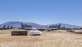 Boneyard авиационной базы ВВС AMARG davis-Monthan в Tucson, Аризоне Стоковое Изображение RF