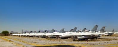 Boneyard авиационной базы ВВС AMARG davis-Monthan в Tucson, Аризоне Стоковые Фотографии RF