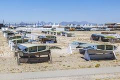 Boneyard för Davis-Monthan flygvapengrund AMARG i Tucson, Arizona arkivfoton