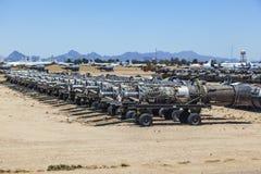 Boneyard för Davis-Monthan flygvapengrund AMARG i Tucson, Arizona royaltyfria bilder