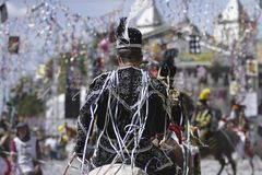 Bonfim马狂欢节- Carnaval cavalo 免版税库存照片