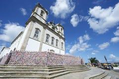 Bonfim教会萨尔瓦多巴伊亚巴西街视图 免版税图库摄影