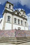 Bonfim-Kirche Salvador Bahia Brazil Exterior Stockfotografie