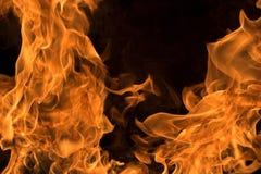 Bonfire. Isolated on black background Stock Photo