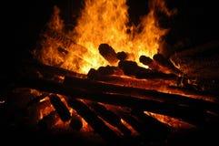 Bonfire. A St. John night bonfire in Spain Royalty Free Stock Images