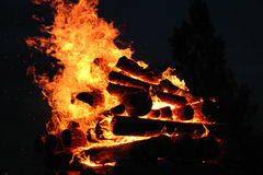 Bonfire. Of the summer solstice Stock Images