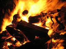 Bonfire. A fast burning pile of wood Stock Photos