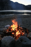 Bonfire. A bonfire by the Lysefjorden in southern Norway stock photography
