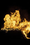 Bonfire. Blazing bonfire on Guy Fawkes night November the 5th Royalty Free Stock Images