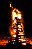 Bonfire camp Royalty Free Stock Images