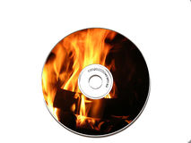 Bonfire CD. A bonfire on a CD Stock Images