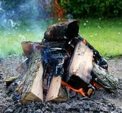 Bonfire close-up Stock Photos