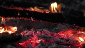 Bonfire close up stock footage