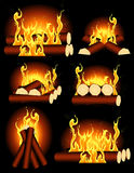 Bonfire collection Royalty Free Stock Image