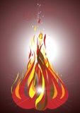 Bonfire on a dark background.Illustration. Stock Photo