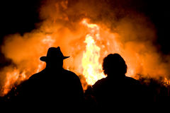 Bonfire with easter Royalty Free Stock Photo