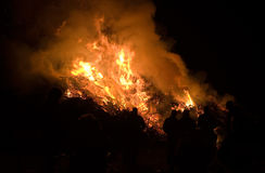 Bonfire with easter Stock Images