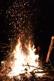 Bonfire embers in air royalty free stock images