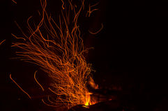 Bonfire flame fire sparks Royalty Free Stock Photo