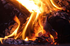 Bonfire and flames Royalty Free Stock Photos