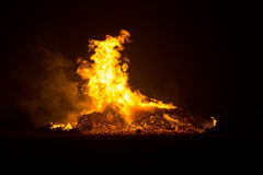 Bonfire in Floradorp Amsterdam Stock Photography