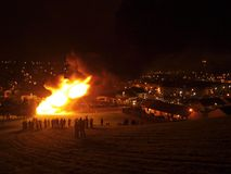 Bonfire at Free Derry Stock Photography