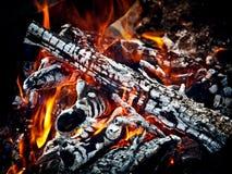 Bonfire. Hot Coals Stock Photos