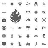 Bonfire icon. Camping and outdoor recreation icons set.  Stock Photos