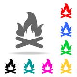 Bonfire icons. Elements of human web colored icons. Premium quality graphic design icon. Simple icon for websites, web design, mob. Ile app, info graphics on Royalty Free Stock Photos