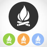 Bonfire icons. Vector illustration. Stock Images