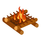 Bonfire isolated vector illustration. Stock Photography