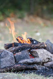 Bonfire on natural background Stock Images