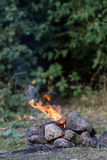Bonfire on natural background Stock Photo