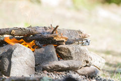 Bonfire on natural background Stock Photography