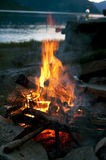 Bonfire near lake Royalty Free Stock Photography