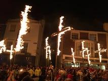 Bonfire night festivities of Lewes Royalty Free Stock Photos