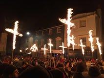 Bonfire night festivities of Lewes Royalty Free Stock Image